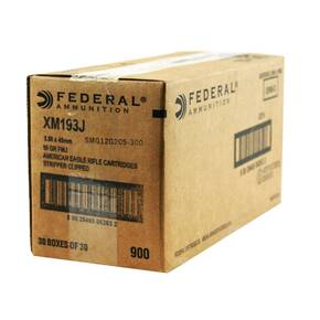 Federal American Eagle Tactical AR 5.56 55gr FMJ 900/box