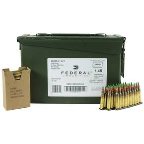 Federal NATO 5.56 Rifle Ammunition 5.56mm 62 gr FMJ-BT 420/Can
