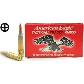 Federal American Eagle Rifle Ammunition 5.56 mm 64 gr FMJ-Tracer 3020 fps 20/Box