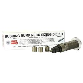 Forster Bushing Bump Neck Sizing Die Kit with 3 Neck Bushings 6x47 Lapua