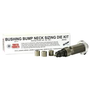 Forster Bushing Bump Neck Sizing Die Kit with 3 Neck Bushings 6mm BR