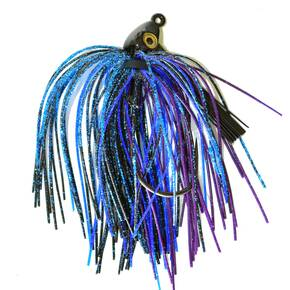 Gambler Heavy Cover Swim Jig Lure 5/16 oz - Black Blue Purple