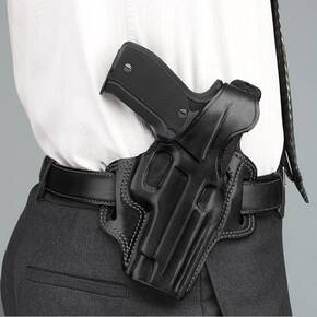 Galco for Glock 20, 21 Fletch High Ride Belt Holster Left Hand Black