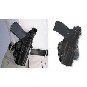 "Galco Colt Commander 4 1/4"" 1911 PLE Unlined Paddle Holster Right Hand Black"