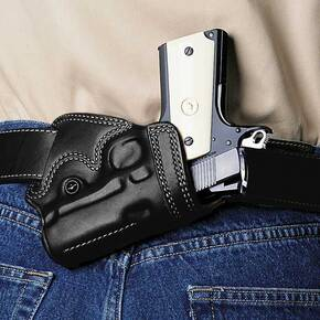 "Galco Colt Detective Special 2"" Small Of Back Belt Holster Left Hand Black"