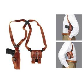 Galco S&W J Frame Vertical Shoulder System Ambidextrous Tan