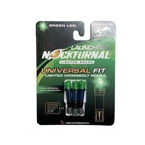 Nockturnal Universal Lighted Nocks Launchpad Crossbow Nock - Green