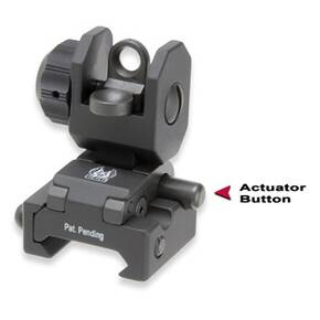 GG&G A2 Spring Actuated Back-Up Iron Sight