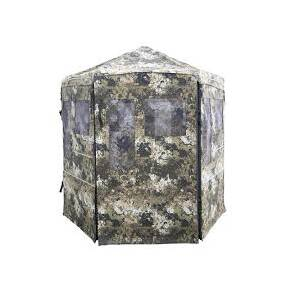 Hawk Warrior Ground Blind with Shadow Mesh Technology