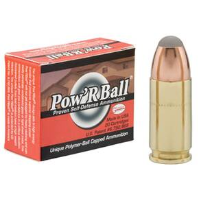 Glaser Pow'RBall Handgun Ammunition  9mm Luger (+P) 100 gr JHP 1475 fps 20/box