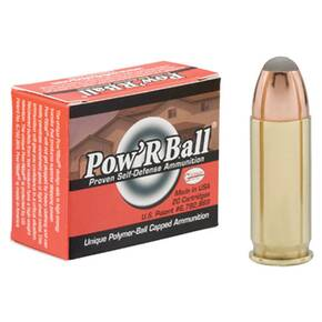 Glaser Pow'RBall Handgun Ammunition  .38 Super 100 gr JHP 1525 fps 20/box