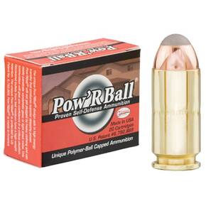 Glaser Pow'RBall Handgun Ammunition  .40 S&W 135 gr JHP 1325 fps 20/box