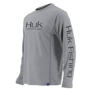 Huk Icon LS Performance Knits Crew Mens