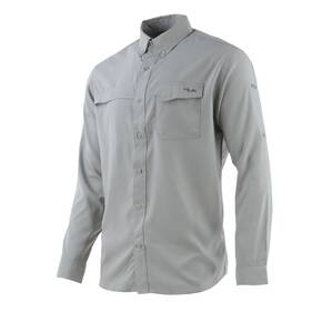Huk Tide Point Woven Solid Long Sleeve Mens Shirt