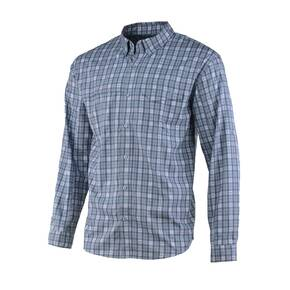 Huk Tide Point Woven Fish Plaid Long Sleeve Mens Shirt
