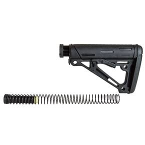 Hogue AR-15/M-16 OM Collapsible Buttstock Assembly with Buffer Tube and Hardware-Black Rubber