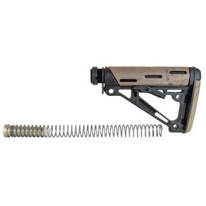 Hogue AR-15/M-16 OM Collapsible Buttstock Assembly with Buffer Tube and Hardware-Ghillie Tan Rubber