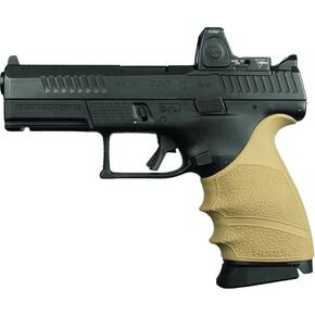 Hogue HandAll Beavertail Grip Sleeve CZ P-10 Compact 9mm - FDE