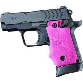 Hogue Ambi Safety Rubber Grip for Springfield Armory 911- Pink