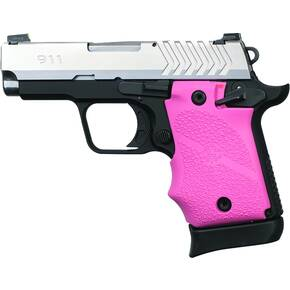 Hogue Ambi Safety Rubber Grip for Springfield Armory 911 9mm- Pink
