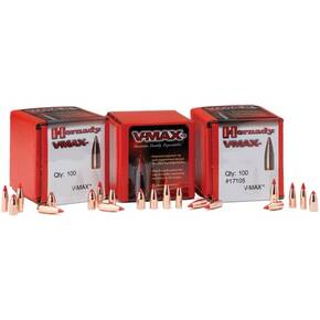 "Hornady V-MAX Bullets 6mm .243"" 75 gr V-MAXBT 100/ct"