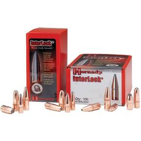 "Hornady InterLock Bullets .30 cal .308"" 180 gr RN 100/ct"
