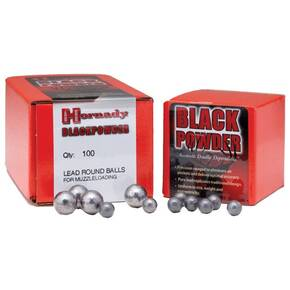 "Hornady Lead Round Ball .50 cal .490"" 100/ct"