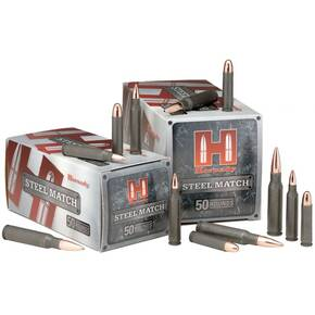 Hornady Steel Match Rifle Ammunition .223 Rem 75 gr BTHP 2790 fps - 50/box