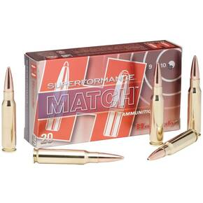 Hornady Superformance Match Rifle Ammunition .223 Rem 75 gr BTHP 2930 fps - 20/box