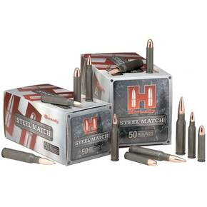 Hornady Steel Match Rifle Ammunition .223 Rem 55 gr HP 3240 fps - 50/box