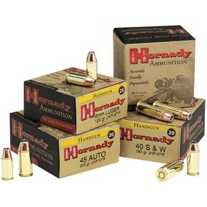 Hornady Custom Handgun Ammunition 9mm Luger 147 gr XTP 975 fps 25/box