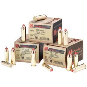 Hornady LEVERevolution Handgun Ammunition .44 Mag 225 gr FTX 1410 fps 20/box