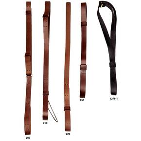 Hunter Rifle Military Leather Sling with Solid Brass Hardware