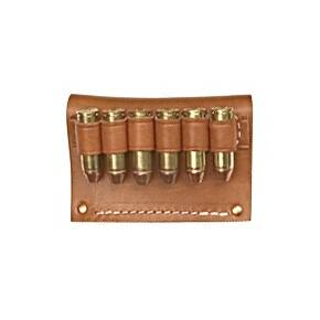 Hunter Leather Leather Cartridge Slide, .50 Caliber, 6 Rounds