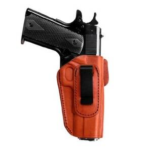 Tagua 4 in 1 Inside the Pants Holster without Thumb Break Ruger LC9 w/CT Laser Brown Right Hand
