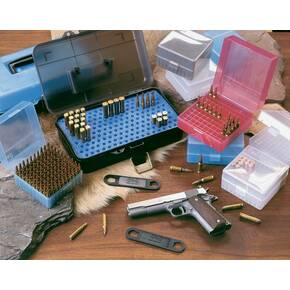 J&J Hinge-Top Rifle Ammo Case 100 Rounds of .22 Hornet - .357 Rem Max