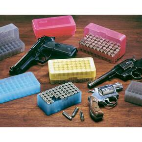 J&J Slip-Top Pistol Ammo Case 50 Rounds of .38/.357 Magnum