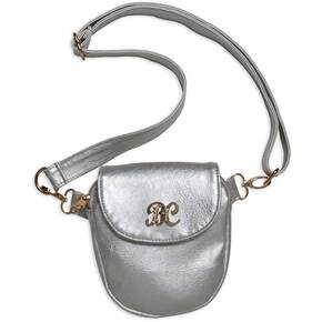 Bulldog Trilogy Conceal Carry Purse - Silver W/ Silver Trim
