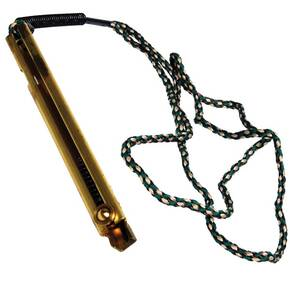 Knight Brass Musket Capper with Lanyard