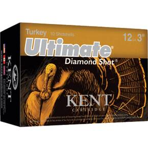 "Kent Ultimate Diamond Shot Turkey 12 ga 3 1/2"" MAX 2 1/4 oz #4 1200 fps - 10/box"