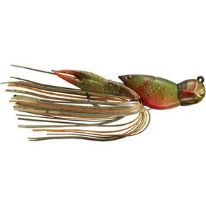 "LiveTarget Hollow Body Crawfish Jig Lure Size 3/0 1/2 oz 1.75"" - Olive/Orange"