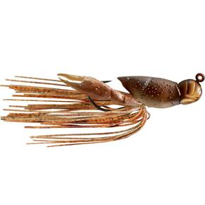 "LiveTarget Hollow Body Crawfish Jig Lure Size 3/0 1/2 oz 1.75"" - Natural/Brown"
