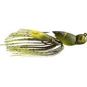 "LiveTarget Hollow Body Crawfish Jig Lure Size 4/0 3/4 oz 2"" - Green/Chartreuse"