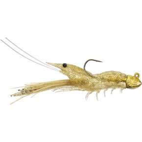 "LiveTarget Fleeing Shrimp Jig Lure Size 2/0 3/8 oz 3-1/2"" - Glass Shrimp"