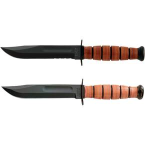 Ka-Bar K1 USMC Short Size Fighting Knife (w/Sheath)