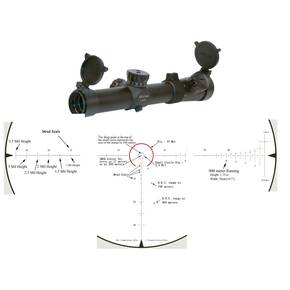 Leatherwood CMR-AK Series Rifle Scope - 1-4x24mm Illum. Red CMR Matte