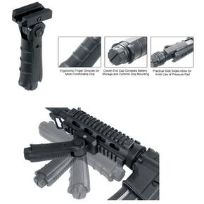 Leapers Ergonomic Ambidextrous 5-position Foldable Foregrip - Black