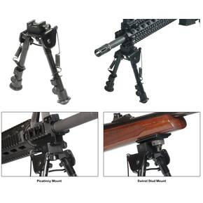 Leapers Tactical Op Bipod Swat/Combat Profile Adjustable Height - 6-8""