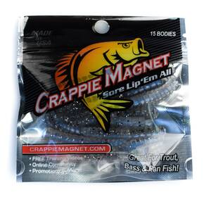 "Leland Crappie Magnet Soft Lure 1-1/2"" 15pk - Salt & Pepper"
