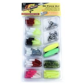 Leland 96-Piece Crappie Magnet Soft Lure Kit - Assorted
